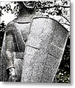 20th Century Gothic Revival Knight Statue Chicago Usa Metal Print