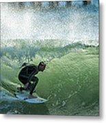 Gulf Coast Surfing Metal Print