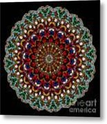 Kaleidoscope Stained Glass Window Series Metal Print by Amy Cicconi