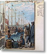 Boston Tea Party, 1773 Metal Print