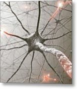 Neural Network Metal Print