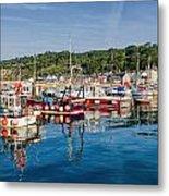 Lyme Regis Harbour Metal Print