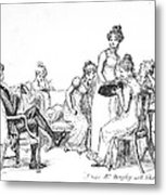 Scene From Pride And Prejudice By Jane Austen Metal Print