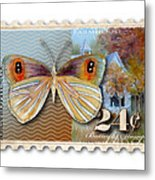 24 Cent Butterfly Stamp Metal Print