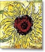 24 Kt Sunflower - Barbara Chichester Metal Print