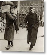 Wwi Refugees, 1918 Metal Print