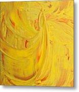 24k Yellow Gold Metal Print
