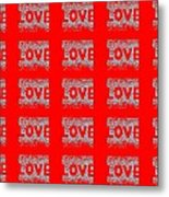 25 Affirmations Of Love In Red Metal Print