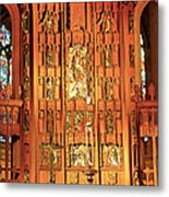 Church Wood Art Metal Print