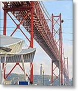25 De Abril Bridge 2 Metal Print