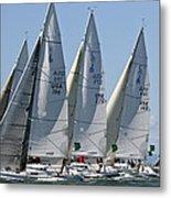 Sf Bay Sailing Metal Print