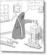 New Yorker December 15th, 2008 Metal Print
