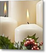 Advent Wreath Metal Print