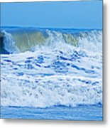 Hurricane Storm Waves Metal Print