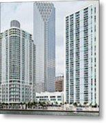 Skyscrapers At The Waterfront Metal Print