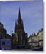 View Of Episcopal Cathedral In Edinburgh Metal Print