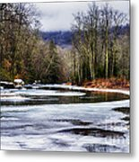 Winter Along Williams River Metal Print