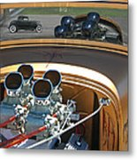 '29 Ford With '32 Ford Reflection Metal Print
