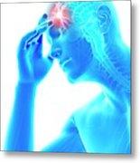 Human Headache Metal Print