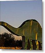 2d Brontosaurus Metal Print