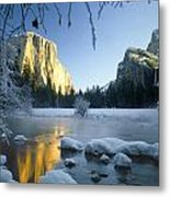 2m6538-yosemite Valley In Winter Metal Print