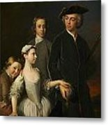 2nd Baron Mansel Of Margam With His Blackwood Half-brothers And Sister  Metal Print