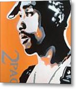 2pac In Orange Metal Print