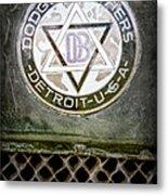 1923 Dodge Brothers Depot Hack Emblem Metal Print