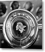 1933 Pontiac Steering Wheel Emblem Metal Print