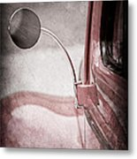 1940 Ford Deluxe Coupe Rear View Mirror Metal Print