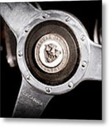 1951 Jaguar Steering Wheel Emblem Metal Print