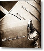 1955 Chevrolet Nomad Wagon Taillight Emblem Metal Print