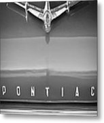 1955 Pontiac Safari Hood Ornament Metal Print