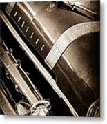 1955 Pontiac Star Chief Grille Emblem - Hood Ornament Metal Print