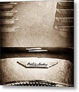 1956 Austin-healey 100m Bn2 'factory' Le Mans Competition Roadster Hood Emblem Metal Print