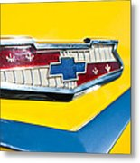 1956 Chevrolet Belair Emblem Metal Print