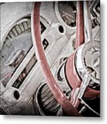 1956 Ford Thunderbird Steering Wheel Metal Print