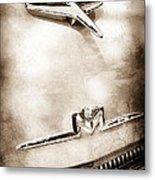 1956 Mercury Monterey Hood Ornament - Emblem Metal Print