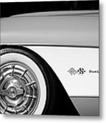 1957 Chevrolet Corvette Wheel Emblem Metal Print