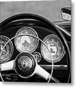 1961 Alfa Romeo Giulietta Spider Steering Wheel Emblem -1185bw Metal Print