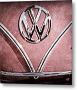 1964 Volkswagen Vw Double Cab Emblem Metal Print