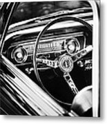 1965 Shelby Prototype Ford Mustang Steering Wheel Emblem Metal Print