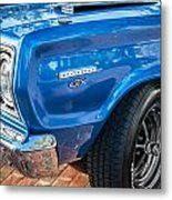 1967 Plymouth Belvedere Gtx 440 Painted  Metal Print