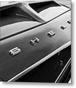 1968 Shelby Gt350 Hood Emblem Metal Print