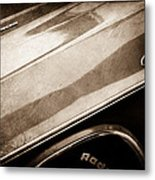 1970 Dodge Challenger Rt Convertible Emblems Metal Print