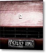 1972 Ferrari 365 Gtb-4a Grille Emblem Metal Print