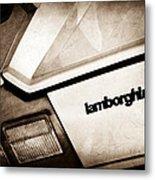 1982 Lamborghini Countach 5000s Taillight Emblem Metal Print