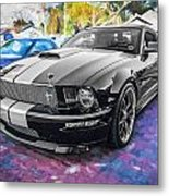2007 Ford Mustang Shelby Gt Painted  Metal Print