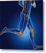3d Running Medical Man Metal Print by Kirsty Pargeter