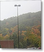A Foggy Autumn Day At The United States Military Academy Metal Print
